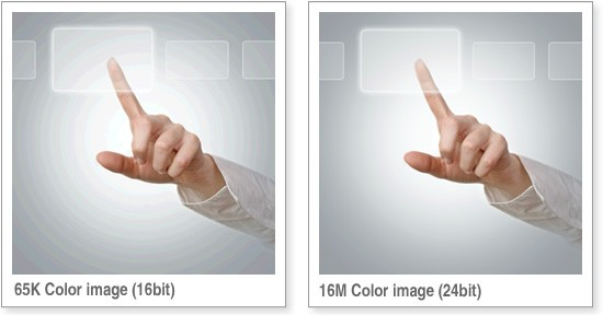 Colors: 65k Vs 16m Color Image