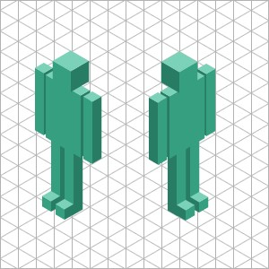 Isometric Views With Orthographic Projections - Reuse Just By Flipping
