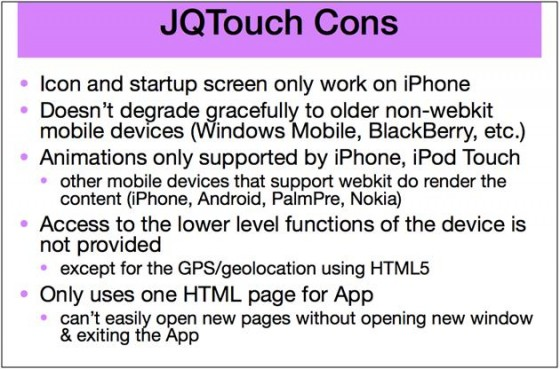 mlearning Strategy JQTouchCons