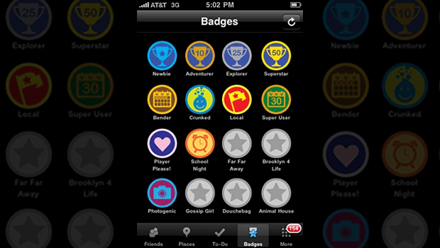 iPhone FourSquare Badges