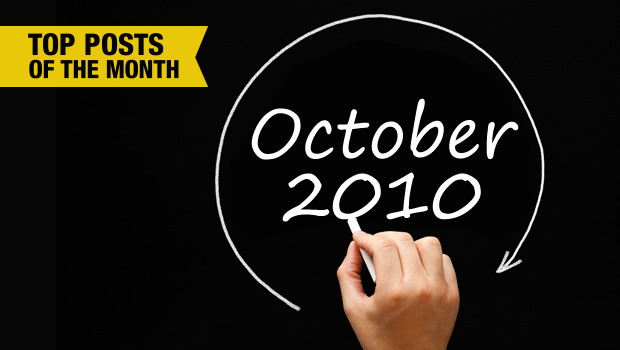 October 2010 Monthly Roundup: 5 Most Popular Posts