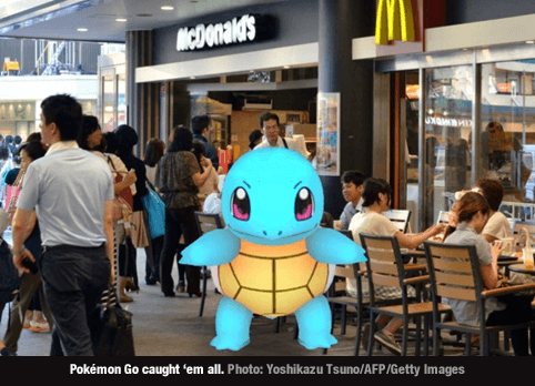 Pokemon Go and McDonalds