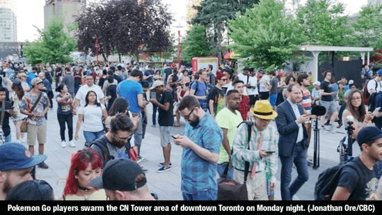 Pokemon Go - Players in Toronto