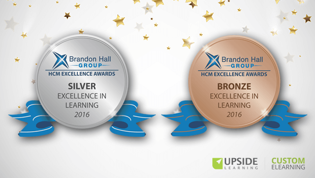 Upside Learning Together With Two of its Clients Win Two Brandon Hall 2016 Awards