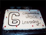 Upside Learning - Sixth Anniversary Cake